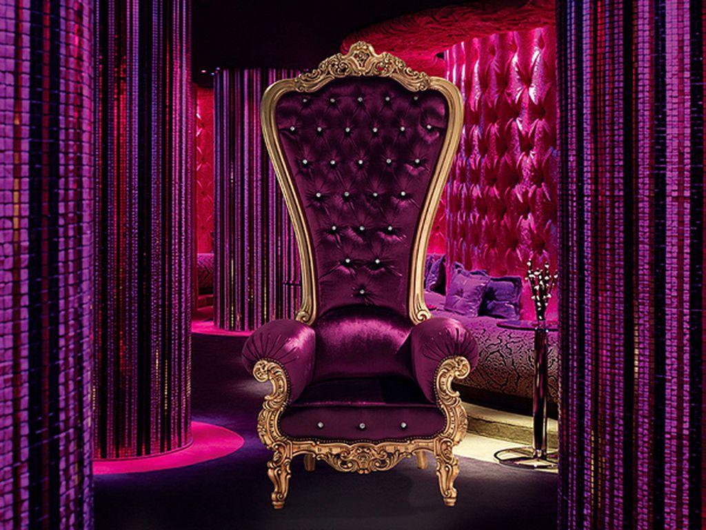 Color phychology purrr ple for King living furniture lounge
